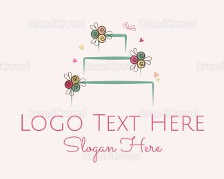 Cake - Wedding Cake logo design