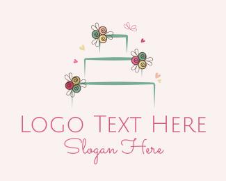 Bouquet - Wedding Cake logo design