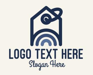 Property Agent - Real Estate Price Tag logo design