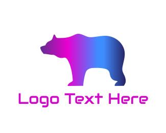 Edm - Disco Bear logo design
