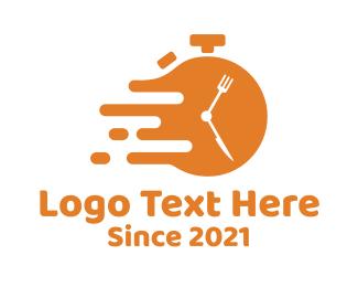 Diner - Orange Fast Food Diner logo design