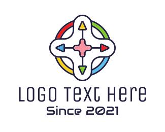 Controller Pad - Multicolor Game Controller logo design