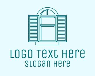 Carpentry - Window Shutters logo design
