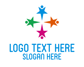 Social Worker - Star Kids Preschool logo design