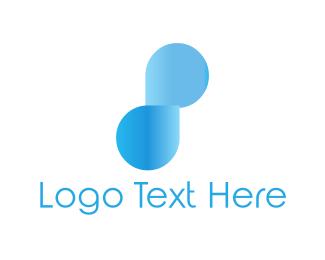 Number 8 - Blue Number 8 logo design