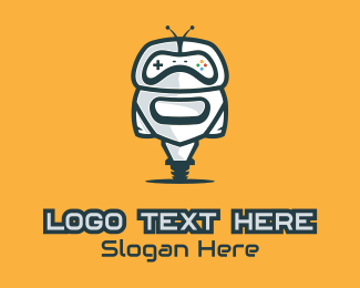 Droid - Wheeled Gamer Droid logo design