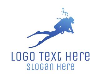 Diver - Blue Diver logo design