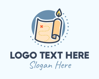 Point - Candle Treasure Map logo design