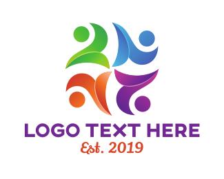 Crowd - Colorful Group logo design