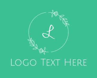 Instagram - Beauty Green Wreath logo design