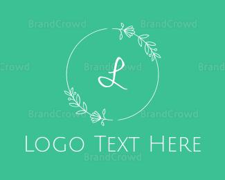 Beauty - Beauty Mint Wreath logo design