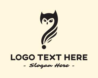 Question Mark - Owl Question logo design