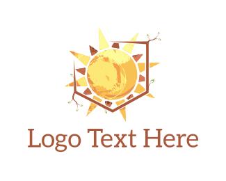 Day - Sun Shield logo design