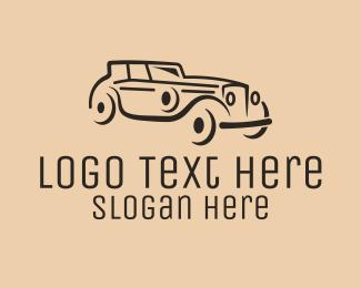 Car Restoration - Classic Vintage Car logo design