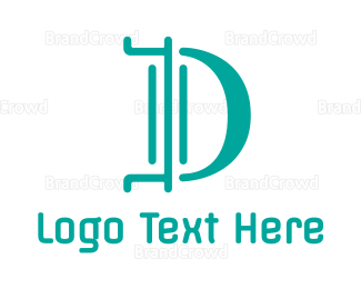 Modern - Modern Blue D logo design