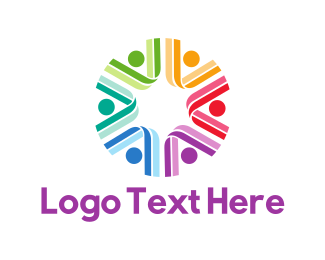 Diversity - Colorful Group logo design