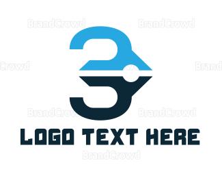 Biography - Blue Pen Number 3 logo design