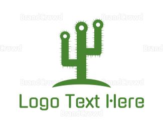Cactus - Green Spikey Cactus logo design