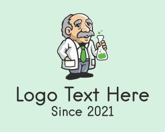 Scientist - Old Scientist Man logo design