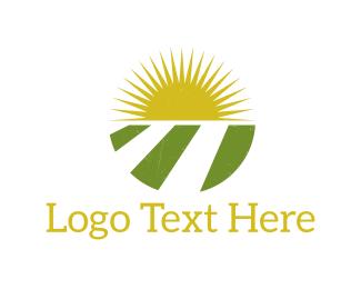 Field - Sun & Agriculture logo design