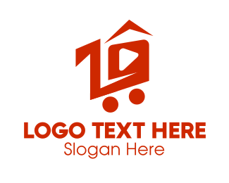 Push Cart - Shopping Cart Video  logo design