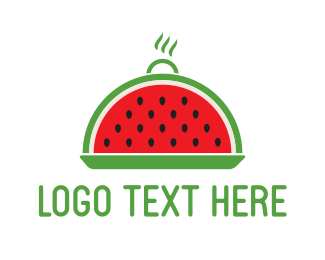 Red Watermelon - Watermelon Tray logo design