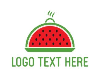 Lunch - Watermelon Tray logo design