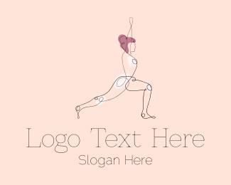 Namaste - Stretching Yoga Instructor  logo design