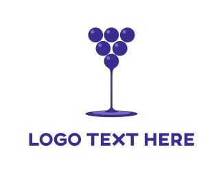 Grape - Wine Drink  logo design