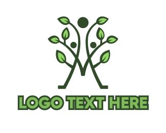 Sauna - Wellness Leaf M logo design