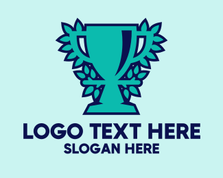Winning - Nature Blue Green Trophy logo design