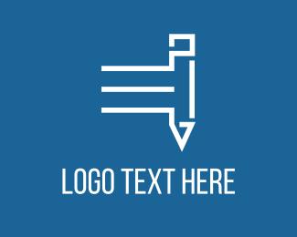 Crayon - Fast White Pencil logo design
