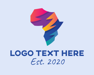 Nation - Colorful Africa Map  logo design