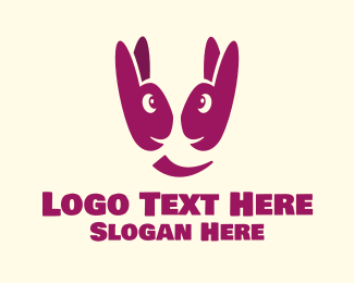 Joyful - Happy Bunnies logo design