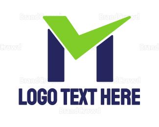 Approval - Check Green M logo design