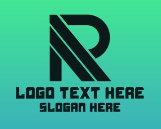 Gaming - Black Stripe R logo design