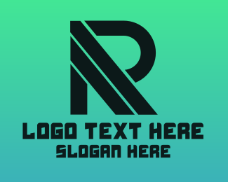Stripe - Black Stripe R logo design