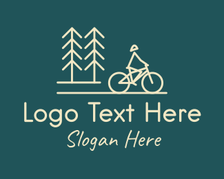 Bike - Nature Bicycle Bike Ride logo design