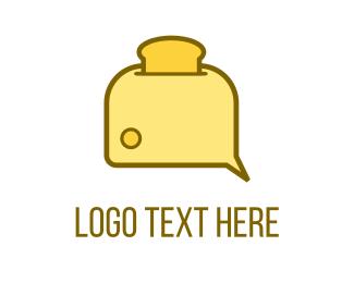 Toast - Bread Toaster logo design