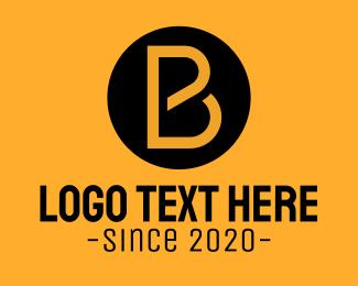 Concreter - Black & Yellow Business Letter B logo design