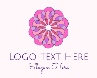 Yuletide - Stained Glass Wellness Flower logo design