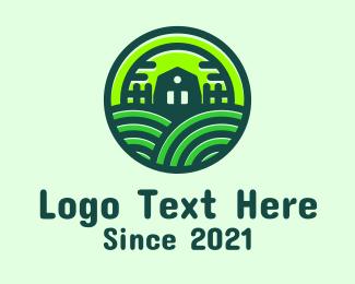 Fence - Green Home Fields logo design