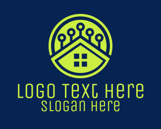 Business Solutions - Green Smart Home logo design