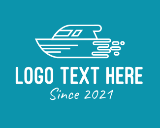 Boat Repair - Speed Boat Jet Boat logo design