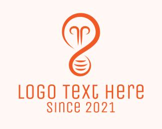 Venture - Orange Lightbulb logo design