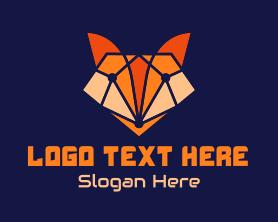 Jackal - Geometric Fox Gaming logo design