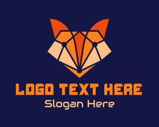 Fortnite - Geometric Fox Gaming logo design