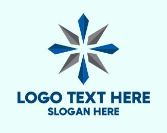 3D Star Flower Logo