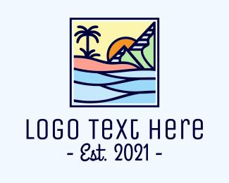River - Travel Mountain River logo design
