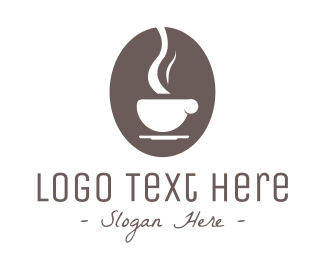 Hot - Brown Coffee logo design